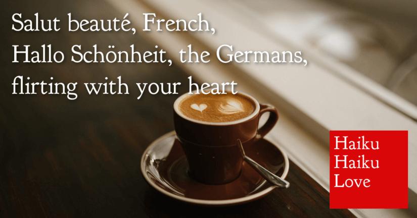 Salut beauté, French