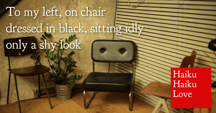 To my left, on chair