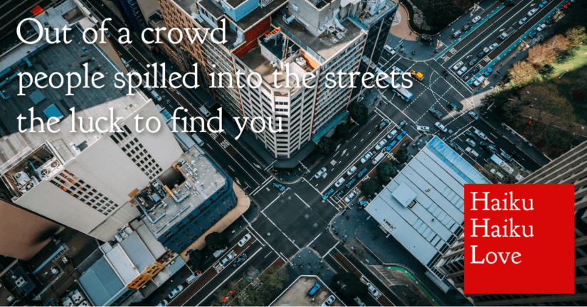 Out of a crowd
