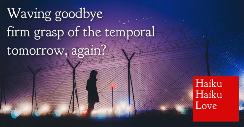 Waving goodbye