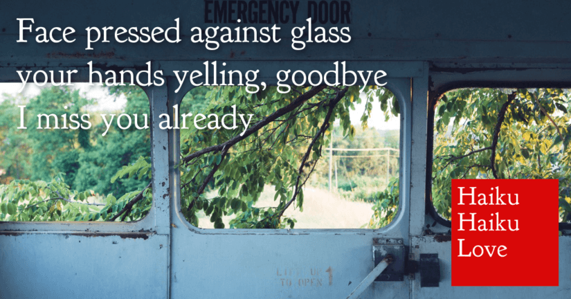 Face pressed against glass