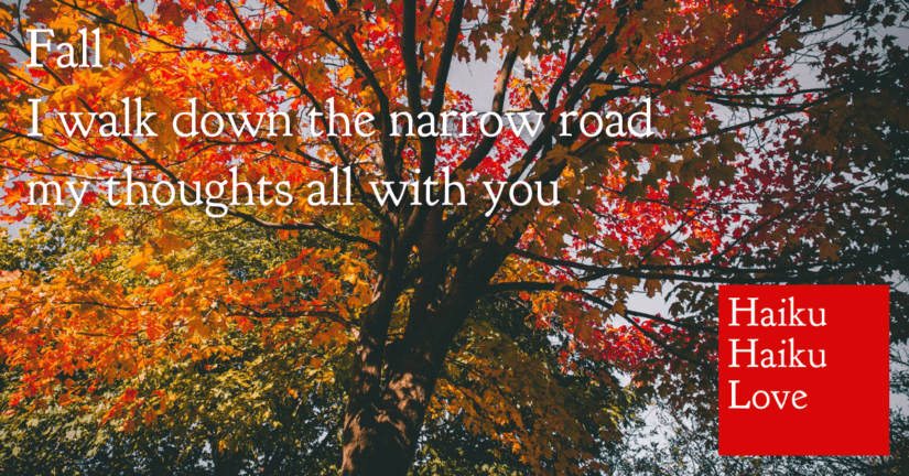 Fall · I walk down the narrow road · my thoughts all with you.