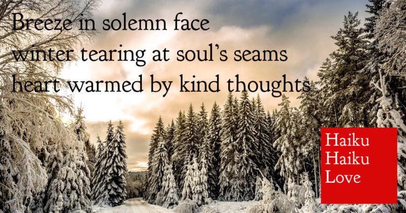 Breeze in solemn face