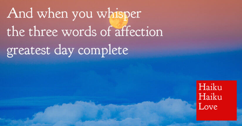 And when you whisper